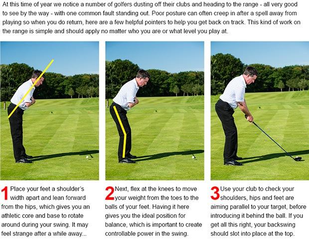 Golf tip posture