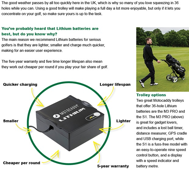 Have you checked your golf battery recently?