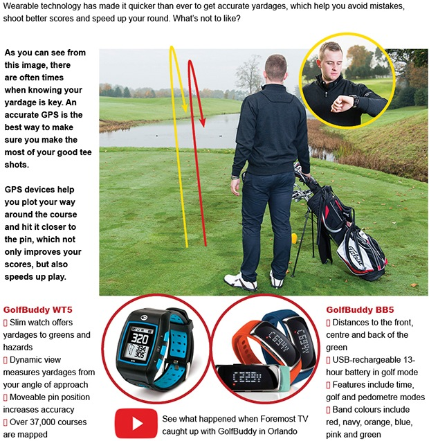 Take the hazards out of play with a golf GPS