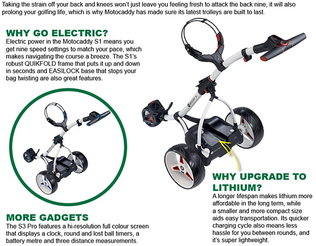 Motocaddy range updated for 2016