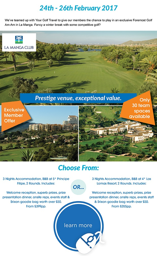 Represent the club with your friends in La Manga