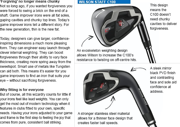 New game improver irons add form to forgiveness