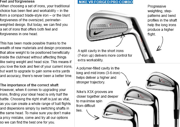 Nike Golf VR Forged Pro Combo irons