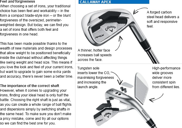 Foiling compromise: the latest player's irons