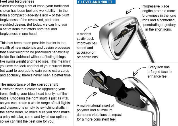 Cleveland Golf588 TT irons