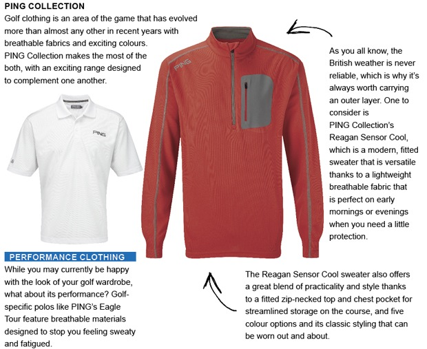 PING Collection golf clothing