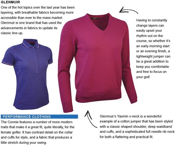 Glenmuir golf clothing