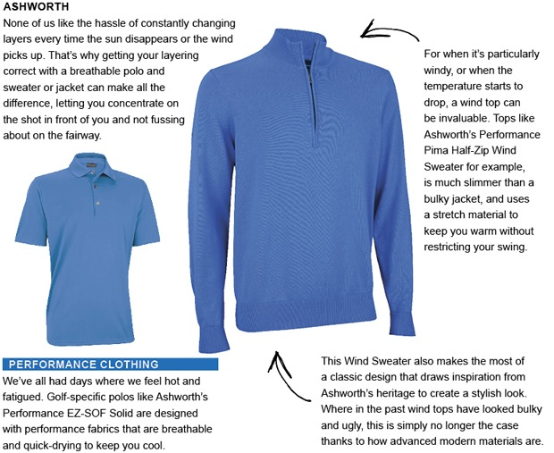 Ashworth golf clothing