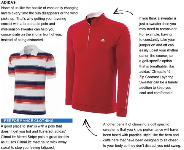 adidas golf clothing
