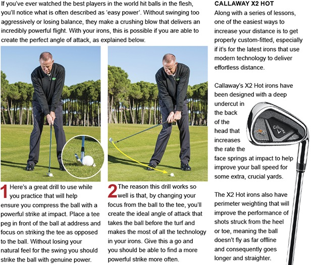 Use the 'tee drill' to groove a powerful strike