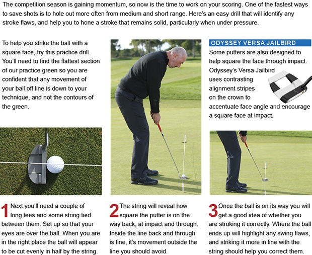 Sharpen your aim to hole more putts