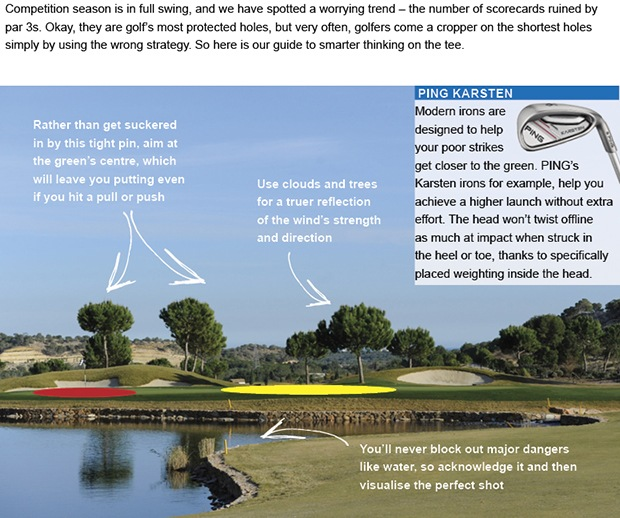 How to conquer those card-wrecking par 3s