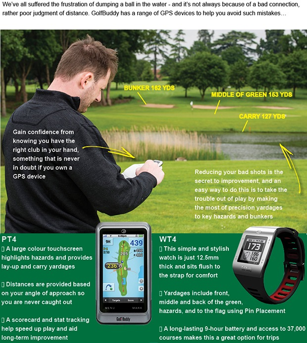 GolfBuddy GPS devices