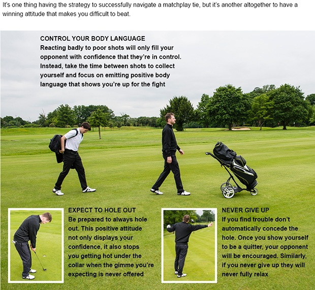 Matchplay golf tips