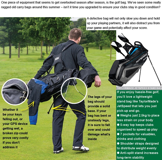 Is your golf bag showing signs of stress?