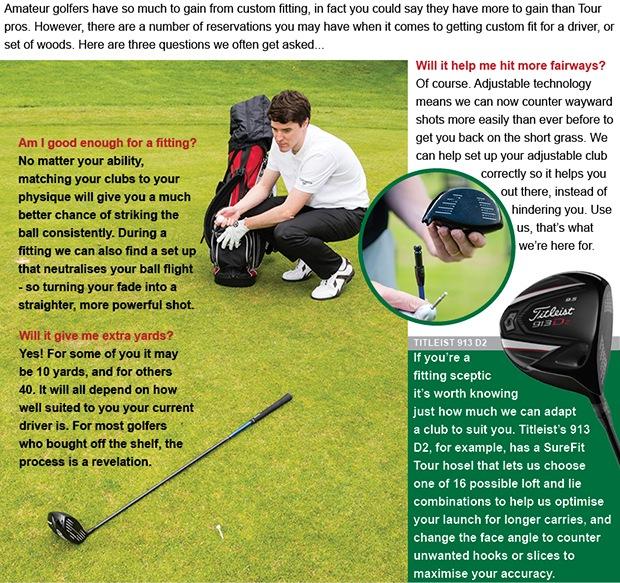 Golf custom fitting