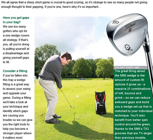 Lower your scores with a wedge fitting