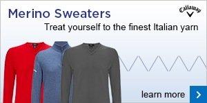 Callaway merino wool sweaters