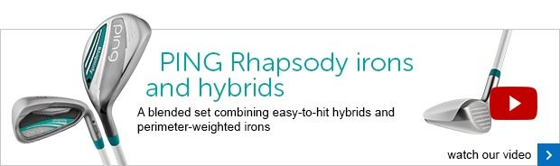 PING Rhapsody ladies irons and hybrids