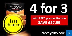 Titleist 4 for 3 with free personalisation £37.99