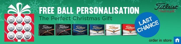 Titleist free ball personalisation, order in store