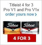 Titleist 4 for 3 with free personalisation £39.99