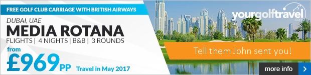 Your Golf Travel - Dubai Media Rotana From £969
