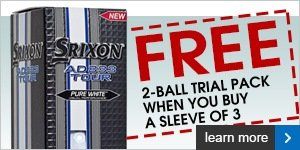 Free trial pack of Srixon AD333 Tour balls