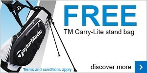 Free TaylorMade stand bag with SpeedBlade irons