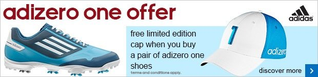 Free limited edition cap with adizero one shoes