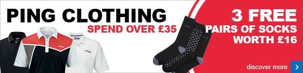 Spend over £35 on PING clothing and get free socks