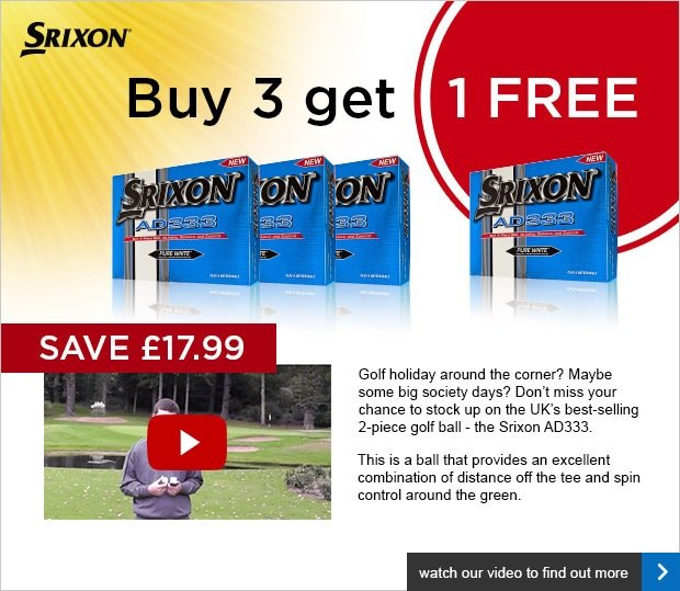Srixon 4 for 3 on AD333 - £17.99