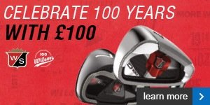 Get a £100 voucher with selected Wilson irons