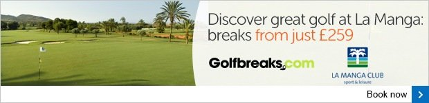 Discover golf at La Manga from just £259