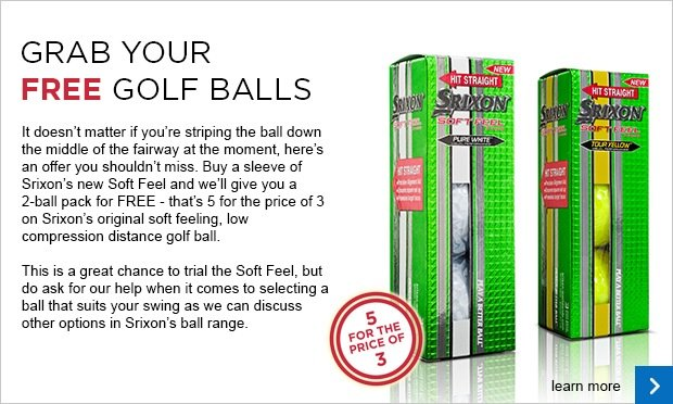 Srixon new Soft Feel trial - 5 for 3
