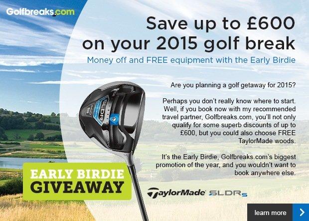 Golfbreaks Early Birdie giveaway