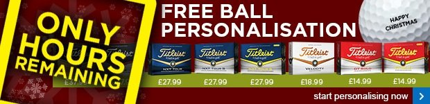 Titleist FREE ball personalisation - from £14.99