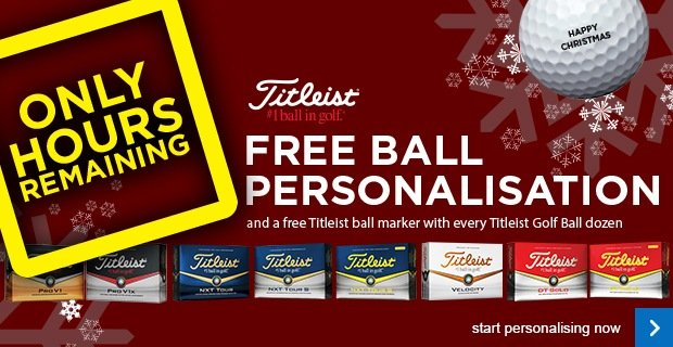 Titleist FREE ball personalisation - from £15.99