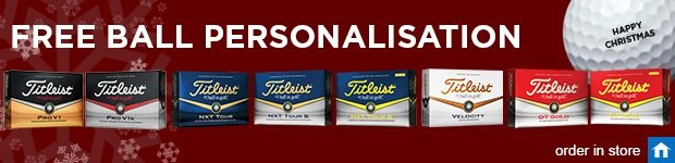 Titleist FREE ball personalisation this Christmas