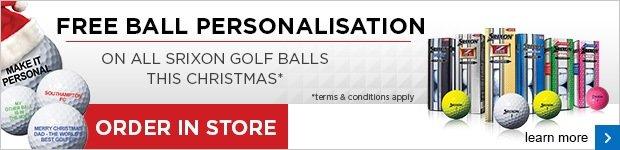 Srixon FREE ball personalisation this Christmas