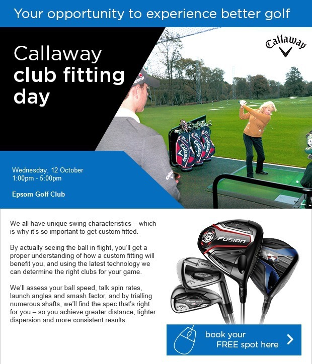 Don't miss our Callaway Fitting Day!