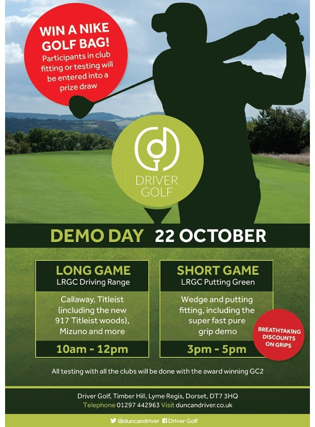 Multi Brand Demo Event at Lyme Regis GC..