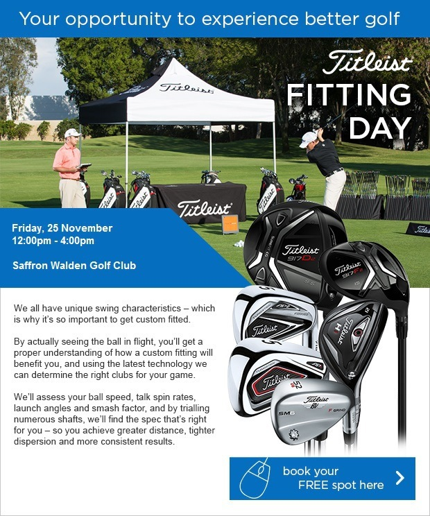 Book your FREE slot at our Titleist Demo Day