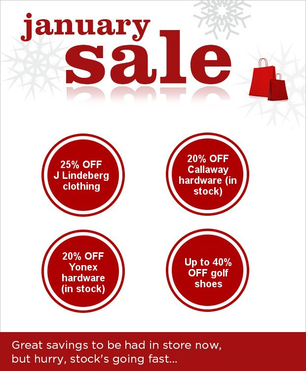 Don't miss our January Sale at Epsom GC!