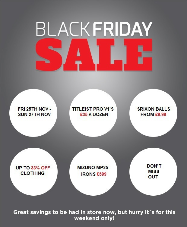 Black Friday Sale at Lyme Regis GC..