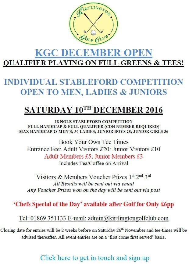 The Kirtlington Open 2016