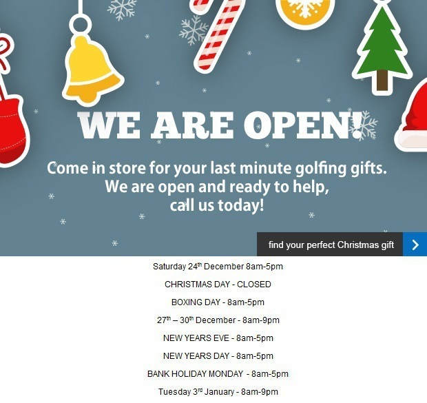 Our Christmas opening hours are…