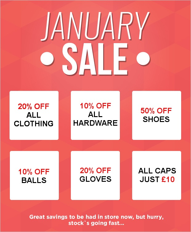 Don't miss our January Sale!