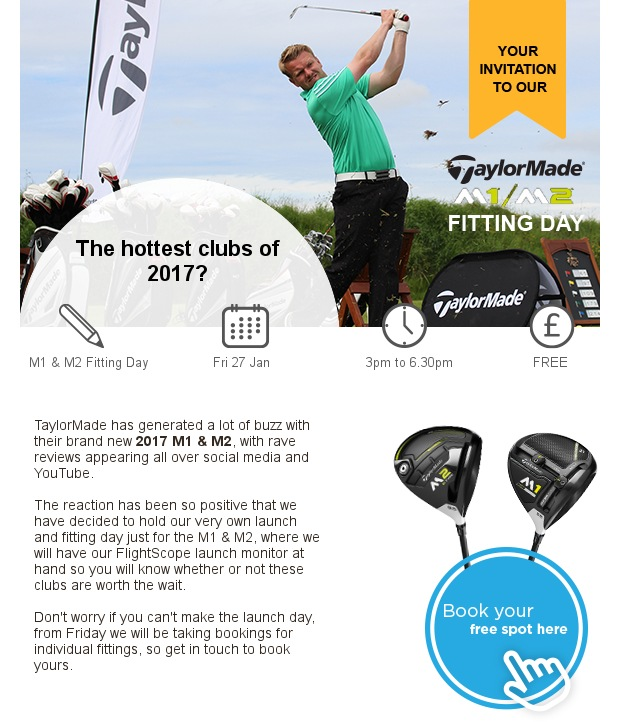 Your invitation to our TaylorMade launch event