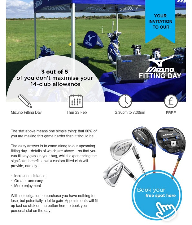 Your invitation to our Mizuno Fitting Event